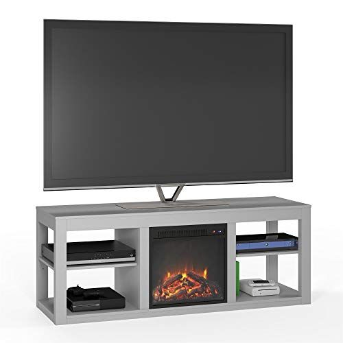 Ameriwood Home 1816412com Parsons Tv Stand With Fireplace