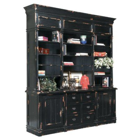Apothecary cabinet finish distressed black for Apothecary kitchen cabinets