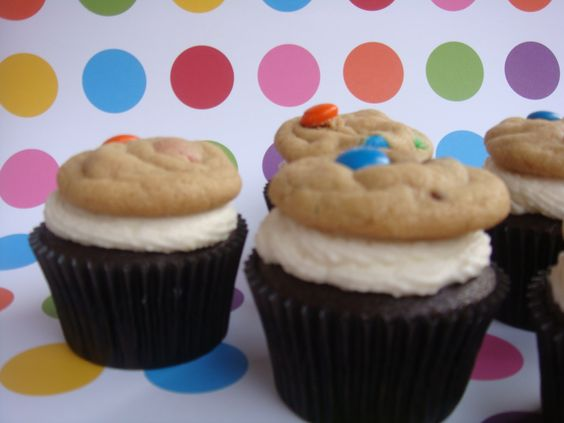 Cupcakes. Buttercream with a mini homemade chocolate chip cookie on top. Made these for a bake sale couple years ago.