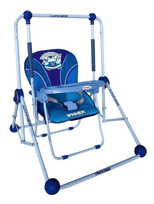 Balancelle Et Chaise 2 En 1 Bleu Balancelle Ceinture De Securite Chaise