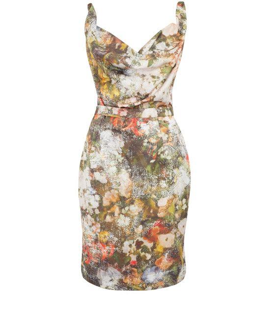 Vivienne Westwood Red Label Multicolour Duchesse Floral Print Dress