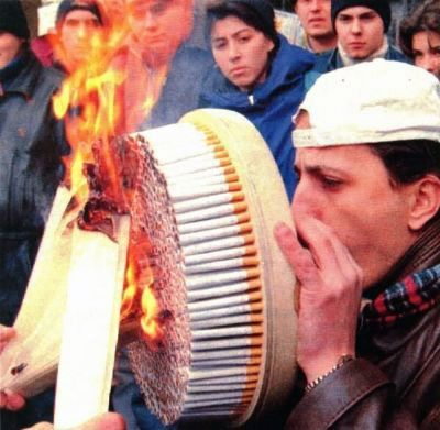 nicotine rush on steroids....
