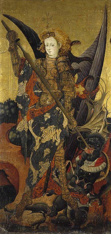 """Gonzalo Perez, Saint Michael Vanquishing the Devil.Early 15th Century """