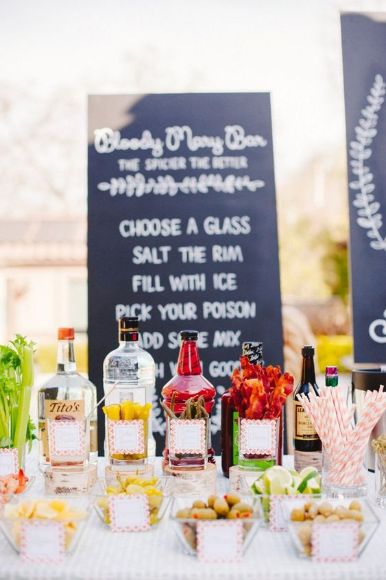 Bloody Mary Bar- I think the boat NEEDS this....