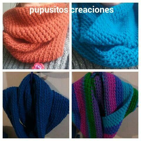 Bufandas circulares crochet