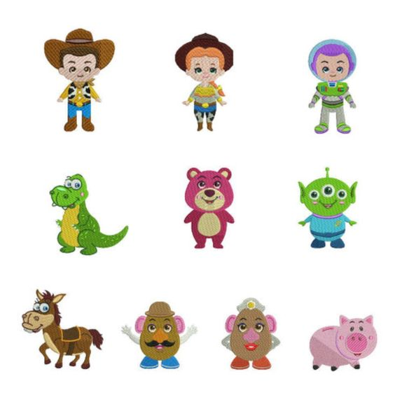 Toy Story Embroidery Designs | Toy Story Machine Embroidery Design