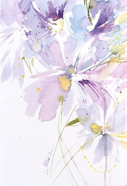 Lesia Binkin Watercolor Flowers In 2020 Watercolor Flower