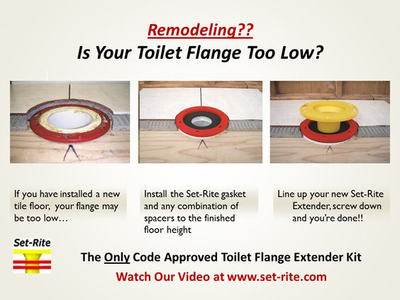 toilet flange. Toilet Flange Too Low  Here is how to get a water gas tight seal using Set Rite s Extender Kit Watch our Video at Pinteres New Tile Floor