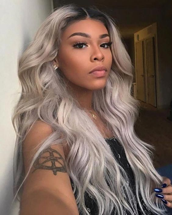 Wavy Long 613 Platinum Blonde Hairstyles Wigs For Black