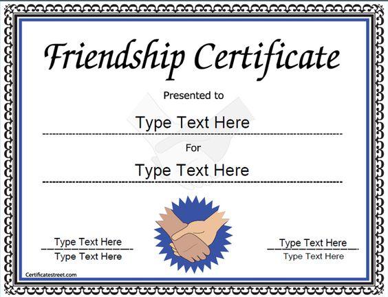 life saving award certificate template - friendship on pinterest
