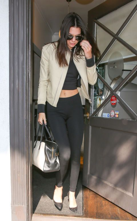 Kendall Jenner out with Hailey Baldwin in Los Angeles. See all of the model's best looks.