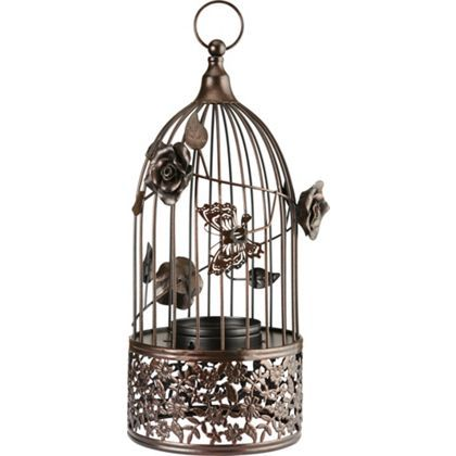 Dark Bronze Birdcage Tealight Holder at Homebase -- Be inspired and make your house a home. Buy now.