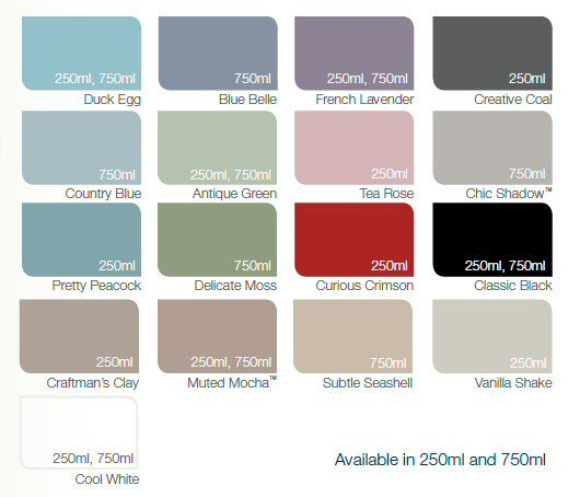 Dulux made by me colour chart satin paint girls room for Paint charts for kitchens