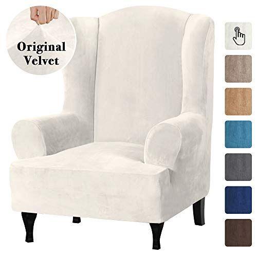 Wingback Chair Covers, Velvet Wing Chair Slipcover