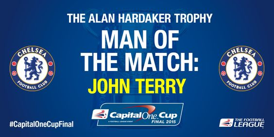 Congratulations to Chelsea captain John Terry!