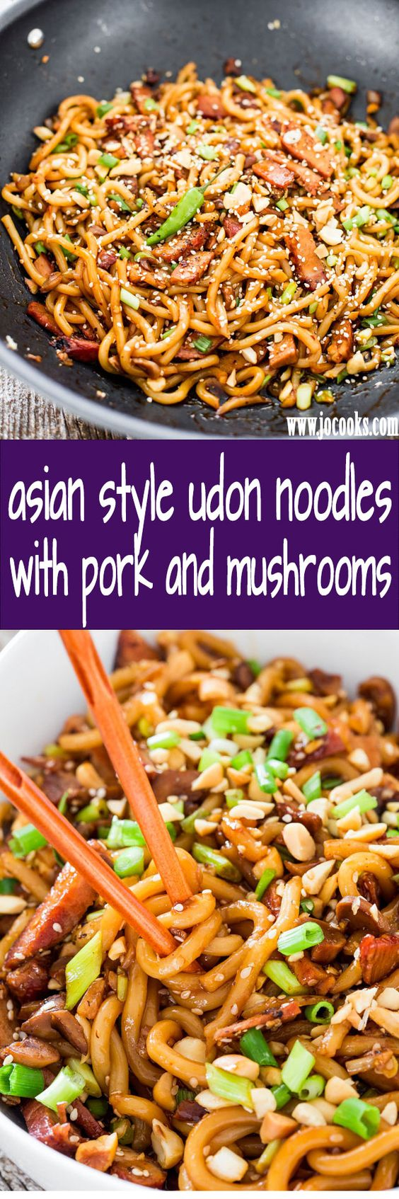Style Udon Noodles with Pork and Mushrooms | Recipe | Udon Noodles ...