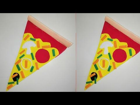 ديكور البيتزا لتزين الثلاجة من ورق الفوم Diy Pizza Youtube Diy Pizza Diy The Creator
