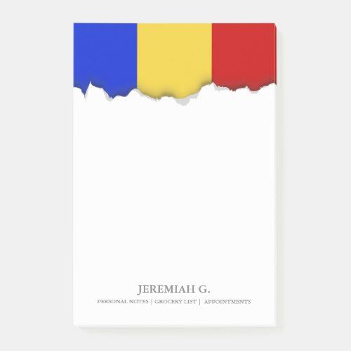 Flag Of Romania Post It Notes Zazzle Com In 2020 Post It Notes Romania Flag Note Paper