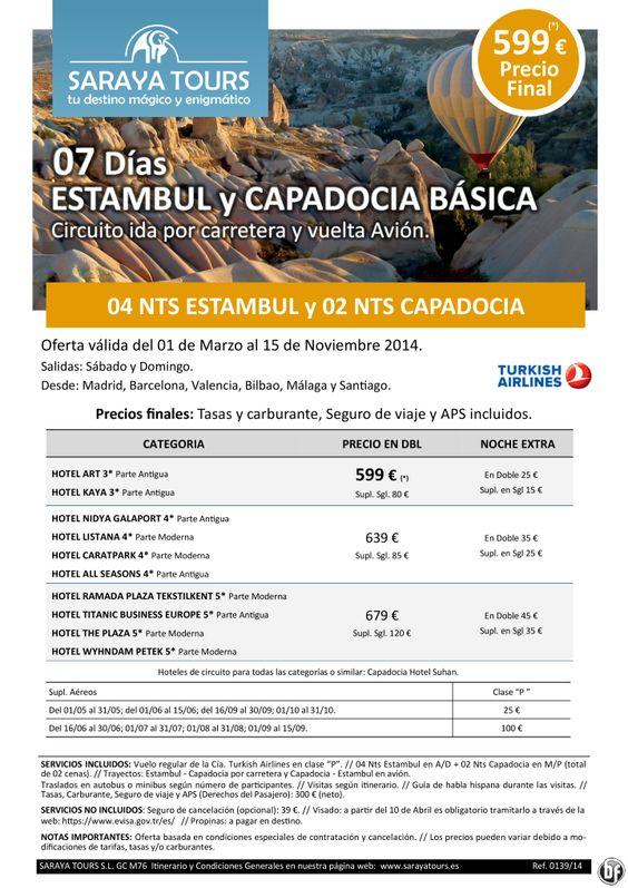 Super Oferta Estambul y Capadocia Básica 7 días 599 € Precio Final ultimo minuto - http://zocotours.com/super-oferta-estambul-y-capadocia-basica-7-dias-599-e-precio-final-ultimo-minuto/