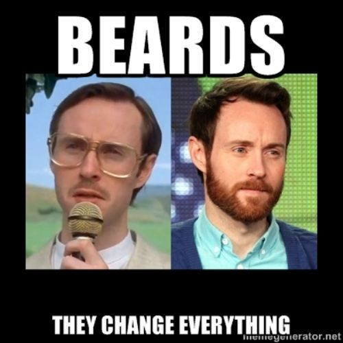 And that's why I love beards!