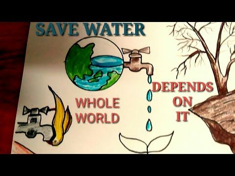 How To Draw Save Water Save Life Best Drawing Idea For Competition Step By Step Youtube Save Water Poster Drawing Save Water Drawing Poster Drawing