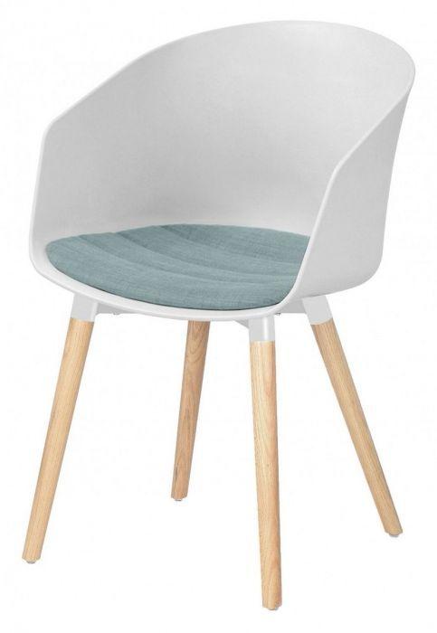 Kunstof Design Stoelen.24designs Set 2 Stoelen Jonna Wit Kunststof Mintgroen