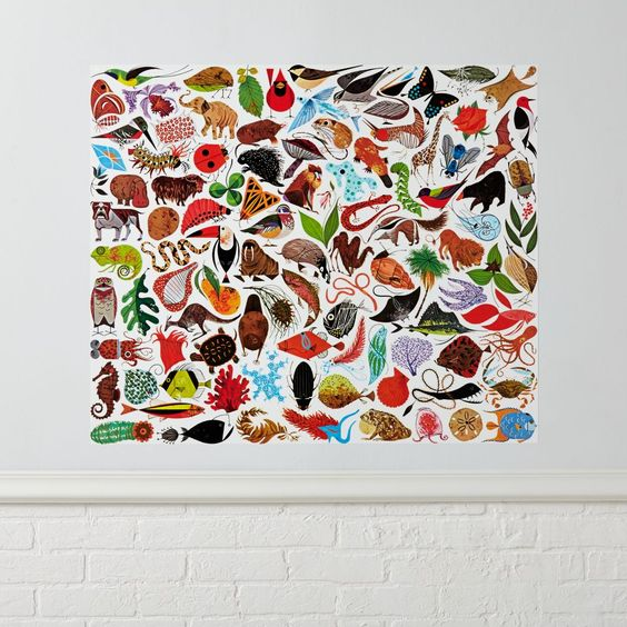 Shop Charley Harper Poster Decal.  Wildlife artist Charley Harper changed the way we see the natural world.  And now we've changed the way you see his artwork with this exclusively designed poster decal, featuring colorful animals of all shapes and sizes.