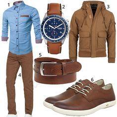Beige Brauner Herren Style Mit Steppjacke Und Jeans Manner Outfit Manner Kleidung Und Herren Style