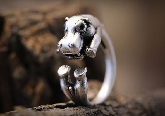 Nijlpaard Ring ♥ Verstelbaar van ISTANBLUE op DaWanda.com