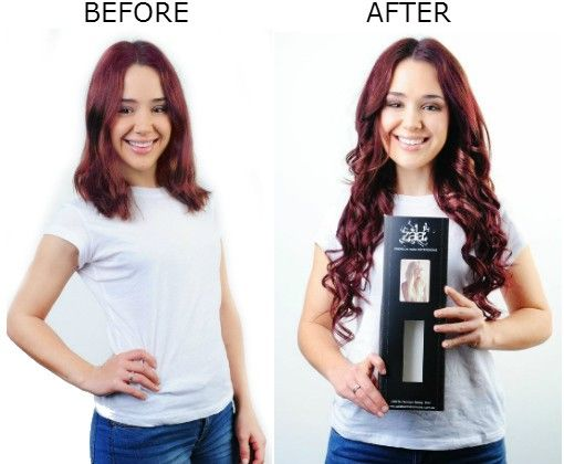 Before and after shot using burgundy red 20 200 grams zala clip before and after shot using burgundy red 20 200 grams zala clip in hair extensions httpzalacliphairextensionsburgundy red clip hai pmusecretfo Image collections