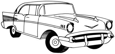 how to draw a 1957 chevy in 5 steps