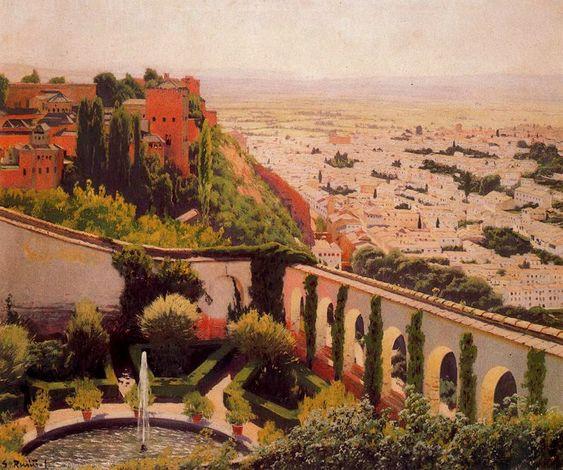 El Generalife. 1897. Santiago Rusiñol.: