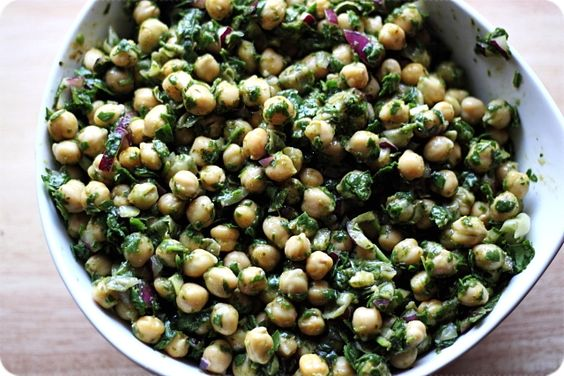 chickpea salad with lime cilantro dressing | Culinary Cravings ...
