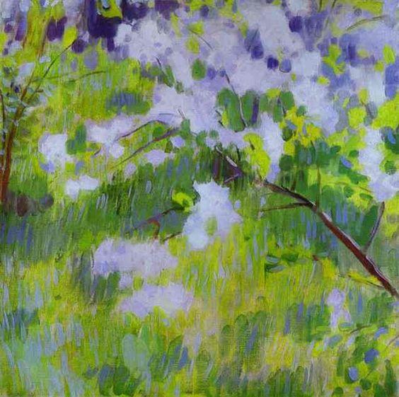 Cherry Trees in Blossom, 1901. Victor Borisov-Musatov. Private Collection.