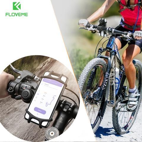 FLOVEME Universal Bicycle Mobile Phone Holder Bike Handlebar GPS Mount Bracket