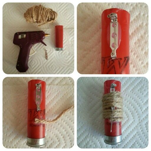 DIY Shotgun Shell Boutonniere...With heavy safety pin