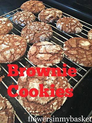 Flowersinmybasket: Brownie Cookies
