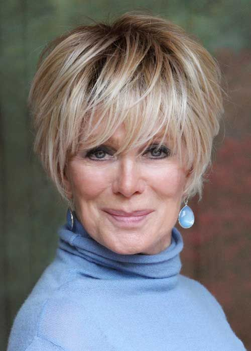 Hairstyles For Older Women With Fine Hair Endearing Short Hairstyles For Fine Hair Over 60  Photo Gallery Of The Short