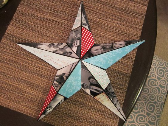 made a photo star from what I saw on Pinterest