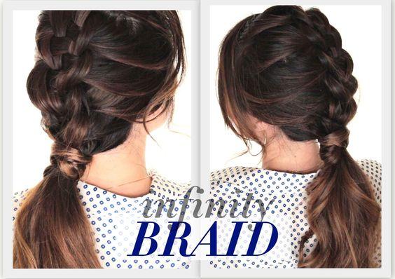 DIY Suspended Infinity Braid | Cute Summer Hairstyles