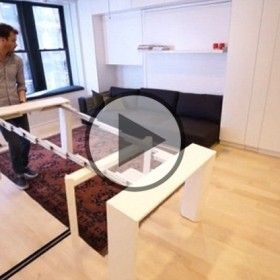 Graham Hill See the transforming New York apartment that fits eight rooms into just