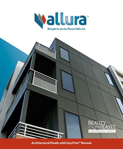 Fiber cement vertical siding architectural panels with for Architectural siding
