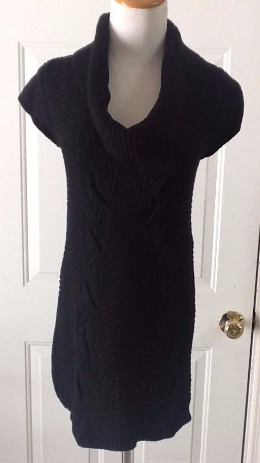 Express M Black Cowl Neck Short Sleeve Cable Knit Sweater Fashion Clothing Shoes Accessories W Sweaters Cowl Neck Short Sleeve Sweater Cable Knit Sweaters