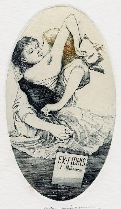 Le Bibliomane Moderne : Bibliophilie et autres Bibliomanies ...: L'ex-libris galant et érotique (ex-eroticis dans le jargon des collectionneurs) Deuxième partie. Par le Vicomte Kouyakov.
