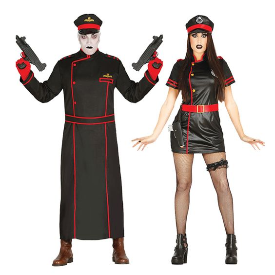 Pareja Militares Goticos #parejas #disfraces #carnaval #novedades2016