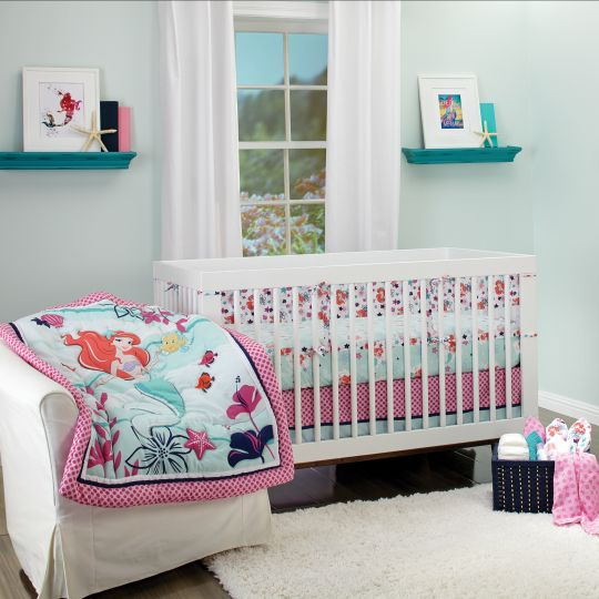 The Little Mermaid Ariel Sea Treasures 3 Piece Crib
