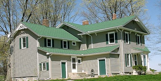 Hunter Green Roofing Shingles And Gray Siding On Pinterest