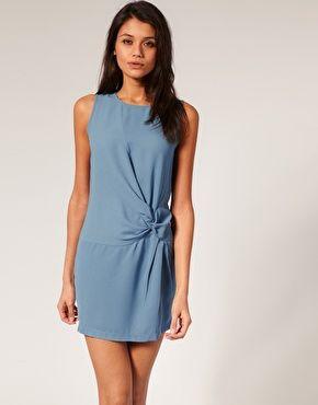 ASOS Shift Dress with Knot Waist