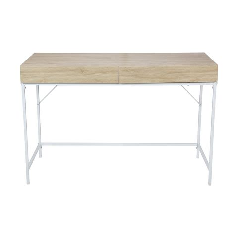 Desk 2 Drawer Scandi Brown Kmart In 2020 Desk With Drawers Home And Living Home Decor