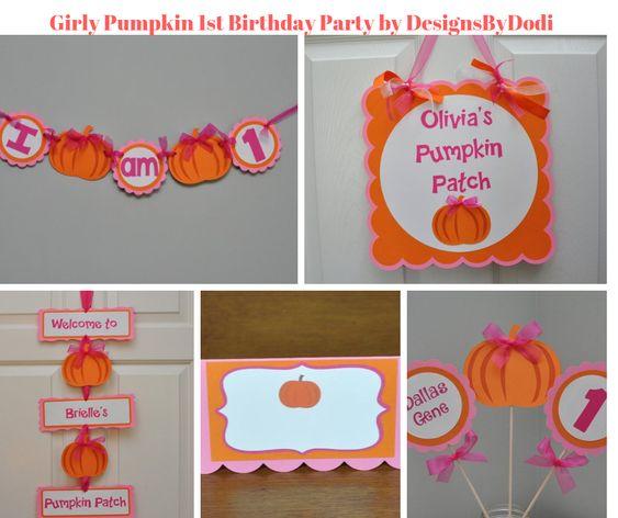 Girly Pumpkin 1st Birthday Party by DesignsByDodi